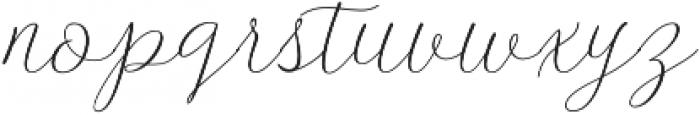 Danliny Script Regular otf (400) Font LOWERCASE