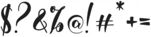 Darelina otf (400) Font OTHER CHARS
