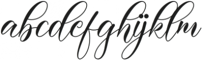 Darelina otf (400) Font LOWERCASE