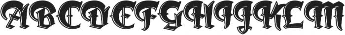 Dark Angel Underlight otf (300) Font UPPERCASE
