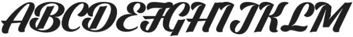Dark Larch otf (400) Font UPPERCASE