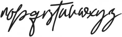 Darling Suttine Slant otf (400) Font LOWERCASE