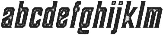 Darmond Rough Oblique otf (400) Font LOWERCASE