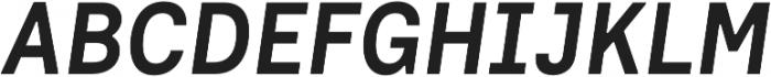 Dart 4F Medium Italic otf (500) Font UPPERCASE