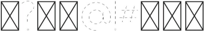 Dashed Line Regular ttf (400) Font OTHER CHARS