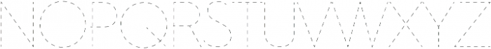 Dashed Line Regular ttf (400) Font UPPERCASE