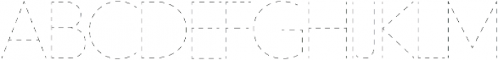 Dashed Line Regular ttf (400) Font LOWERCASE