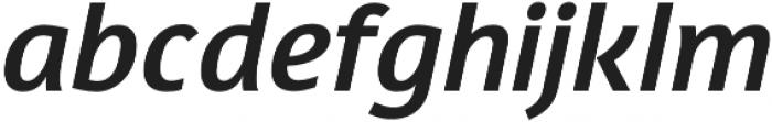 Davidan Italic otf (400) Font LOWERCASE
