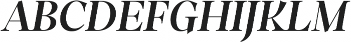 Dawnora Semibold Italic otf (600) Font UPPERCASE