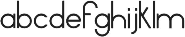 Daze Regular otf (400) Font LOWERCASE