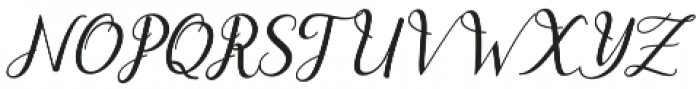 dahlia Script Italic otf (400) Font UPPERCASE