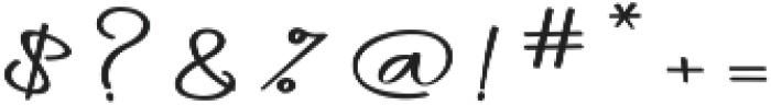daniella script Regular ttf (400) Font OTHER CHARS