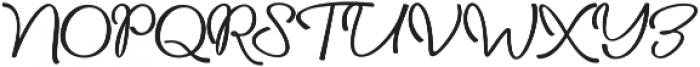daniella script Regular ttf (400) Font UPPERCASE