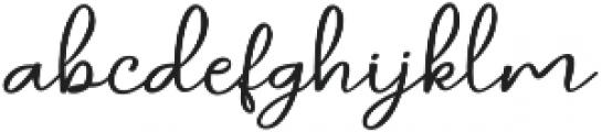 daniella script Regular ttf (400) Font LOWERCASE