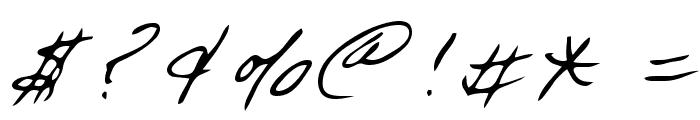 Dart Regular Font OTHER CHARS