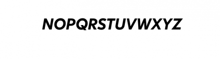 Dado Nova-MediumItalic.otf Font UPPERCASE