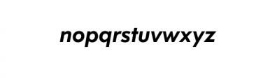 Dado Nova-MediumItalic.otf Font LOWERCASE