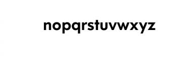 Dado Nova-Medium.otf Font LOWERCASE
