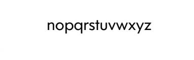 Dado Nova - Regular.otf Font LOWERCASE