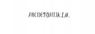 Dahlia script Font UPPERCASE