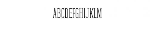 Dalena-Light.otf Font UPPERCASE