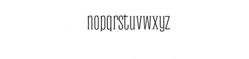 Dalena-Light.otf Font LOWERCASE