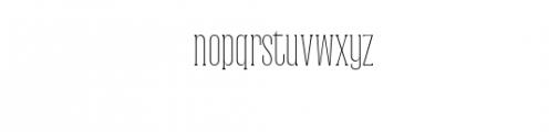 Dalena-Thin.woff Font LOWERCASE