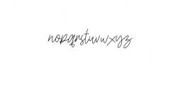 Daltana Font LOWERCASE