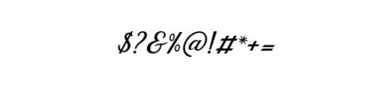 Dandelion Script.otf Font OTHER CHARS