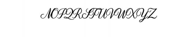 Dandelion Script.otf Font UPPERCASE