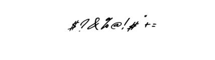 Daniels Signature Font OTHER CHARS
