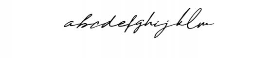 Daniels Signature Font LOWERCASE