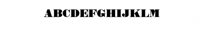 Dark Stout Typeface Font UPPERCASE