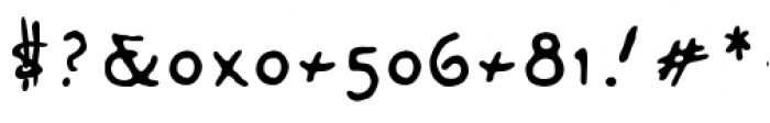 DaiVernon Misdirect Font OTHER CHARS