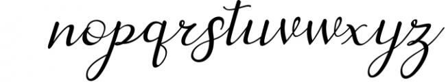 dahlia script Font LOWERCASE