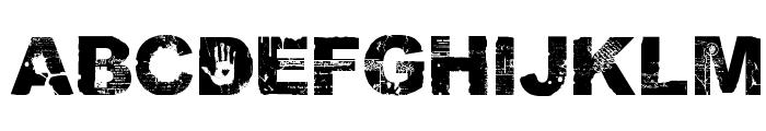 DAMNED Normal Font UPPERCASE