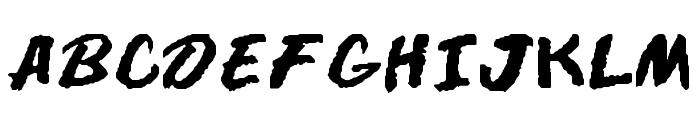 DARE Font UPPERCASE