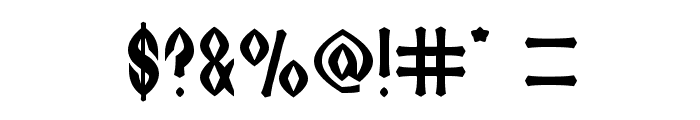 DARK EMPIRE Font OTHER CHARS