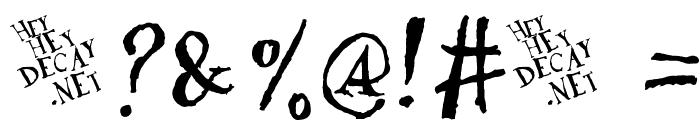 DaDa Antiquerist Font OTHER CHARS