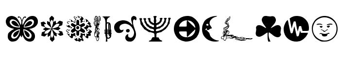 DaOth Regular Font LOWERCASE