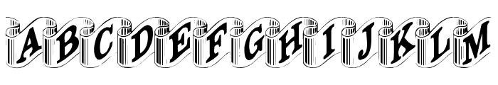 DaRib Plain Font UPPERCASE