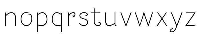 Dacha Font LOWERCASE