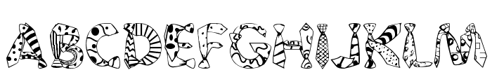 Daddy Tie Font UPPERCASE