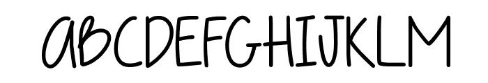 DaddysGirl Font UPPERCASE