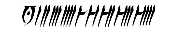 Daedra Bold Italic Font OTHER CHARS