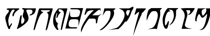 Daedra Bold Italic Font UPPERCASE