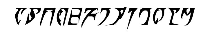 Daedra Bold Italic Font LOWERCASE