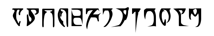 Daedra Bold Font LOWERCASE
