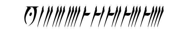 Daedra Italic Font OTHER CHARS