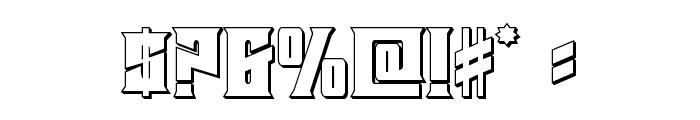 Daemonicus 3D Font OTHER CHARS